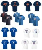 Wholesale George T Shirt - 17-18 new season OKLAHOMA Thunder 0 westbrook 13 George 7 ANTHONY ANY CUSTOM NAME AND NUMBER T-shirt