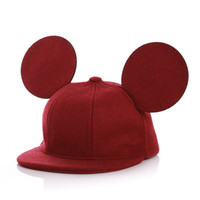 Wholesale Toddlers Girls Baseball Hat - Toddler Children Boys Girls Cap Baby Baseball Caps Infant Kids Winter Hats Autumn With Cute Ears Casual Hip Hop Woolen Snapback
