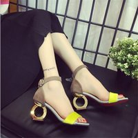 Wholesale T Shaped Heels Shoes - Wholesale-Female high-heeled sandals 2016 summer new fashion personality shaped with open-toed sandals woman shoes wild Office