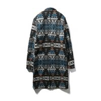Wholesale Chinese Winter Style Men - Wholesale- New 2016 winter chinese style vintage irregularity pattern print long wool coat men overcoat men's clothing size m-5xl NDY9-2
