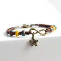 Wholesale Accessories Clay - Fashion jewelry Handmade original design woven string ceramic beads bracelet Creative artistic accessory