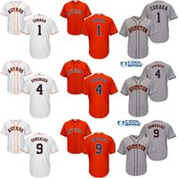 Wholesale Boys Shorts George - Youth 1 Grey Carlos 4 George Springer 9 Marwin Gonzalez Houston Astros kids Baseball Jersey stitched size S-XL