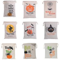 Wholesale festival clothes - Halloween Christmas Gifts Bags Pumpkin Shopping Bags Festival Gifts Bag Halloween Canvas Bag Storage Bags 36*44CM WX-B10