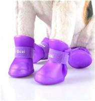 Ropa para perros Pet Rain Boots Teddy Pet Shoes Zapatos antideslizantes Wear Shoes Lovely Silica Gel Dog Shoe