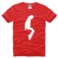 pamuk jackson toptan satış-Yeni Tasarımcı Michael Jackson T Shirt Erkekler Pamuk Kısa Kollu MJ dans Baskılı Mens T-Shirt Moda Yaz Erkek Eğlenceler Tee Gömlek