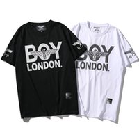 Wholesale Tee Shirt Boy London - London boy T shirt Diamond eagle short sleeve gown Cool tees Street printing clothing Unisex cotton Tshirt