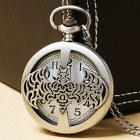 Wholesale Chain Watches For Men - Cool Batman Quartz Pocket Watch With Necklace Chain For Man Boys Children Gift