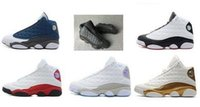 Wholesale Dmx 36 - High Quality Retro 13 Bred Chicago Flints sz 36-47 Basketball Shoes 13s DMP Grey Toe History Of Flight All Star Sneake Kids Size 36-47 Kids