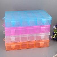 Wholesale Large Earring Storage Jewelry Box - High quality thicken large size 36 grid storage box transparent portable household sundry plastic storage bins