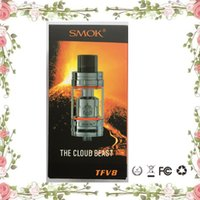 Wholesale Good Quality Clearomizer Atomizer - 2017 smok tfv8 the cloud beast full kit kits tanks atomizer clearomizer V8-T8 V8-Q4 Coils Top Refill refilling with good quality