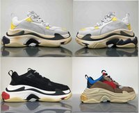 Wholesale Man S High Boots - 100% Original Triple S Men and Women Retro Running Shoes Mens Shoes High Quality of Fashion Boots Sports Sneakers Woman's Sport Boost