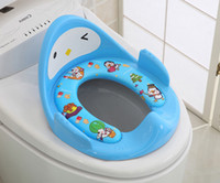 Wholesale Toilet Seats Covers Soft - Kids Toilet Toddlers Pot Baby Potty trainer Boys Girls Toilet Seat Training Potty Children Baby Super Soft Toilet Seat Cover