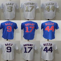 Wholesale Authentic Baseball - 2017 Men Chicago Jersey 17 Kris Bryant 44 Anthony Rizzo 9 Javier Baez Stitched Authentic Baseball Jersey Flexbase Cool Base jerseys