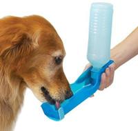 Wholesale Dog Automatic Feeding - Pet Dog Cat Water Feeding Drink Bottle 3 color 250ml Dispenser Travel Portable plastic Feeding Bowl Travel Pet Water Bottle