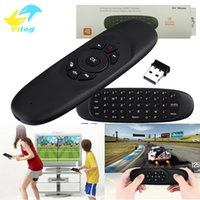 Wholesale smart tv game - Fly Air Mouse H2 Wireless Keyboard six-axis Games Android Remote Control Gravity Induction Rechargeable 2.4GHz Keyboard For Smart Tv Box