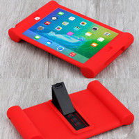 Wholesale Child Kid Ipad Case Cover - Unique Shockproof Soft Silicone Stand Case for Apple iPad 2 3 4 AIR 2 Mini 2 3 4 Protective Drop Proof Cover for Home Children Kids Students