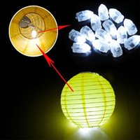 Hot Noël Mini LED Balloon ampoules Lampe de bougie de papier de couleur lumineuse pour mariage Xmas Birthday Party Decoration