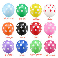 12Inch ballons Romantique Rouge Rose Couleur Polka Dot Latex Ballons Baby Shower Anniversaire Décoration Décoration 20pcs / lot