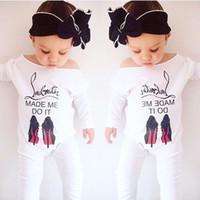bebek yenidoğan tek parça toptan satış-Bebek Bebek Sonbahar Uzun Kollu Tulum Çocuk Pamuk Tulum Yenidoğan Bebek Mektup Geniş Yaka Tek Parça Pamuk Tulum