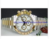 Wholesale oval white sapphire - New Watch factory Supplier Top quality sapphire ceramic 116523 white 40MM Dial Stainless Steel Automatic Men's Watch Watches sport watch