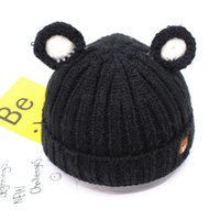Wholesale Child Boy Model Beach - Children's hat more new models with velvet winter warm hat sets baby lovely winter of knitting wool hat