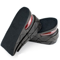 Wholesale shoe pads increase height online - Unisex cm PVC Insole Air Cushion Heel Insert Increase Taller Height Lift Shoe Pad Retail