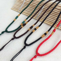 Wholesale Cord Necklaces Quality - New High quality 20pcs DIY Lanyards Pendant Lanyard String Handmade Cords Pendant Necklace Cords Chains DIY Jewelry Accessories
