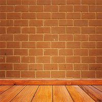 5x7ft Red Brown Brick Wall Photography Backdrops Vintage Wood Flooring Enfants Enfants Fond texturé fondo fotografico para estudio
