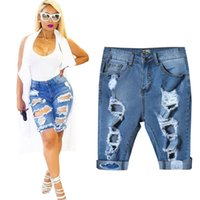 Womens Ripped Denim Shorts Price Comparison | Buy Cheapest Womens ...