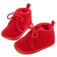 Baby Toddler Infant neve stivali Shoes pattini della greppia suola in gomma Prewalker