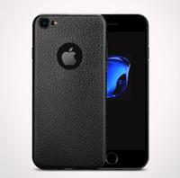 handys pakete großhandel-Neu für iphone 7 8 x 6s plus schlanker ultra dünner fall luxus handy fall für samsung s8 tpu weichem silikon leder mit kleinpaket