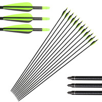 Wholesale fiberglass arrows - 32 inch Fiberglass Target Practice Arrows with Replacement Screw-In Target Practice Point for Recurve and Compound