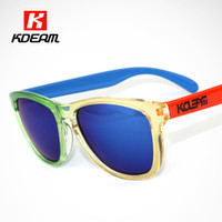 Wholesale led sunglasses online - Popular Frog Clear Sunglasses Men Squared Glasses Women Brand Lead The Way Sunglass With Mirror Lense Full Package