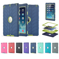 Wholesale Duty Case Ipad - 3 in 1 Defender waterproof shockproof Robot Case military Heavy Duty silicon cover for ipad air air2 pro ipad 234 ipad mini 1 2 3 4