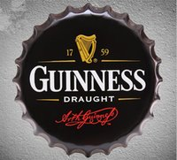 Wholesale Bottling Wand - Guinness Draught 40CM Wand Decoratie Vintage Metal Bottle Cap Tin Signs Bar Garage Poster Custom Neon Sign Dies Feyenoord