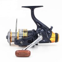 Wholesale Metal Brake Free Shipping - Hlq Double Brake System(Front And Back) 11BB Bass Carp Spinning Fishing Reel Metal Spinning Free Shipping