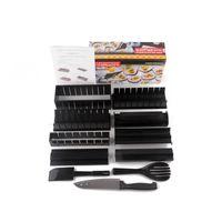 Wholesale Making Rice - High Quality Plastic DIY Sushi Maker Mold Kitchen Sushi Rice Making Tool Onigiri Roll Tool 11pcs set 0702220