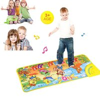 Wholesale Musical Gym - Wholesale- New brinquedos Touch Play Keyboard Musical Music Singing Gym Carpet Mat Best Kids Baby Gift play mats puzzles 2-17#7