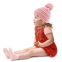 Wholesale Hand Knitted Crochet Baby Hats - 2017 New Wholesale hat Children Crochet Knit Hat baby Knitted Beanie Hats Hand Knitted Caps Children boys girls Winter Cap Toddler cap A1187