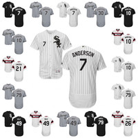 Men orange tim - 2017 Chicago White Sox Jersey Tim Anderson Yoan Moncada Frank Thomas Chris Sale Frazier Jose Abreu Flexbase Onfiled Jersey