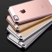 Wholesale Iphone Case Silicone Fashion - Clear TPU Silicone Case For iPhone 5 6S SE Phone Coque Fashion Transparent Ultra-thin Soft Back Cover For iPhone 7 7plus