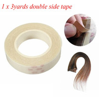 Wholesale double tape extensions - 1pcs HIGH QUALITY 1cm*3m Double-Sided Adhesive Tape for Skin Weft Hair Extensions - super adhensive tape