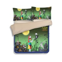 Wholesale Christmas Bedding Sets Queen - New Nightmare Before Christmas Bedding Set 2PC 3PC Duvet Cover Set Quilt Cover Pillowcase High Quality Twin Full Queen King Size