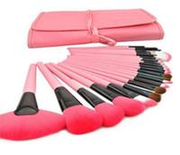 Wholesale Makeup Brush Horse - Makeup Brushes 24Pcs Set 3 colors Make Up Cosmetic Brush Kit eye shadow Toiletry beauty appliances makeup brush with PU bag