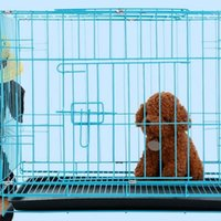 Wholesale pomeranian dogs - Pet Supplies Cage For Dog Cat Chicken Rabbit Bear Pomeranian Poodle Coop Wire Fold Cages Manufacturers Easy To Carry 102hm H