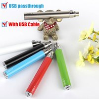 Mini Batterie UGO V en gros Corée du Sud Hot cigarette électronique Batterie Evod Micro Usb Electronic Ego Passthrough Battery Avec câble USB