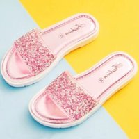 Wholesale Summer Girls Slippers - 2017 Newest Children's Summer Slippers Girl's Beach Shoes Baby girls Shower Shoe Kid's PVC Slippers girls Flat with DHL free Shipping CK247
