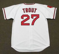 Wholesale Rod Drying - Men's Women's Youth #27 MIKE TROUT #29 ROD CAREW #30 NOLAN RYAN #44 REGGIE JACKSON Throwback Jersey Stitched