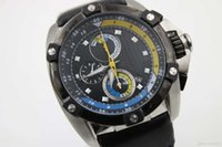 Wholesale Men Watch Velatura - Hot Sale Luxury Brand Men Velatura Chronograph SNAA93 Yellow Inner Quartz Men's watch Black Dial Brown Leather Belt Chronograph Sport Watch