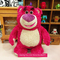 Wholesale Toy Story Strawberry Bear - Wholesale-New Arrival!! Original Toy Story Lotso Strawberry Bear Cute Soft Stuffed Animals Plush Toy Doll Gift for Girl Kids Birthday Gift